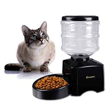Homdox 5 5 Liter Large ABS Material Automatic Pet Feeder Dog Cat Dry Food Portion Control