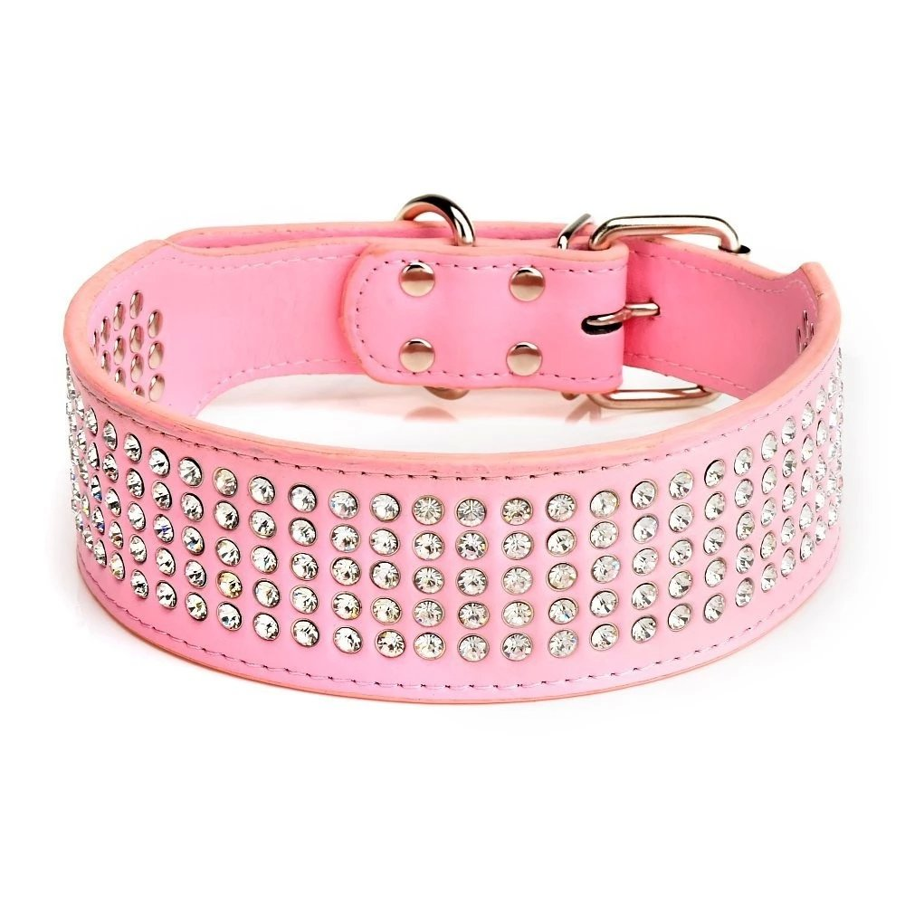 Beirui Rhinestones Dog Collar